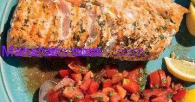 طرز تهیه ماهی قزل آلای کبابی