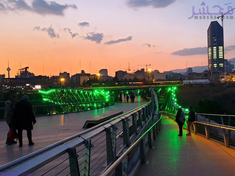 دوربین زنده پل طبیعت تهران