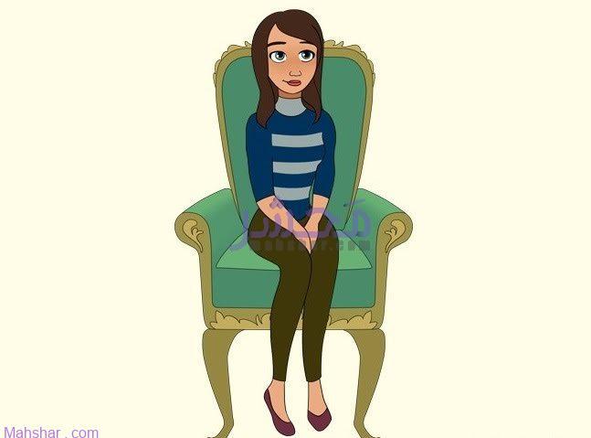 شخصیت شناسی نشیتن روی صندلی و قرار دادن دست ها بین زانوها