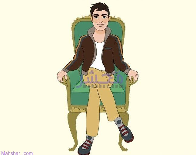 شخصیت شناسی نشیتن روی صندلی و انداختن پا روی پا
